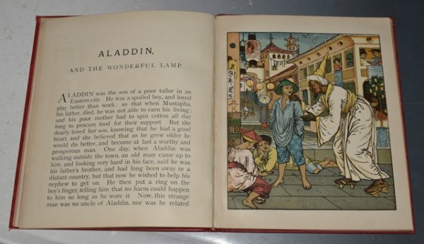"Image for Goody Two Shoes Picture Book: Containing: Goody Two Shoes, Aladdin, and The Yellow Dwarf. With Eighteen Coloured Pictures by Walter Crane. Engraved and Printed by Edmund Evans. ""Walter Crane's Picture Books Large Series."""