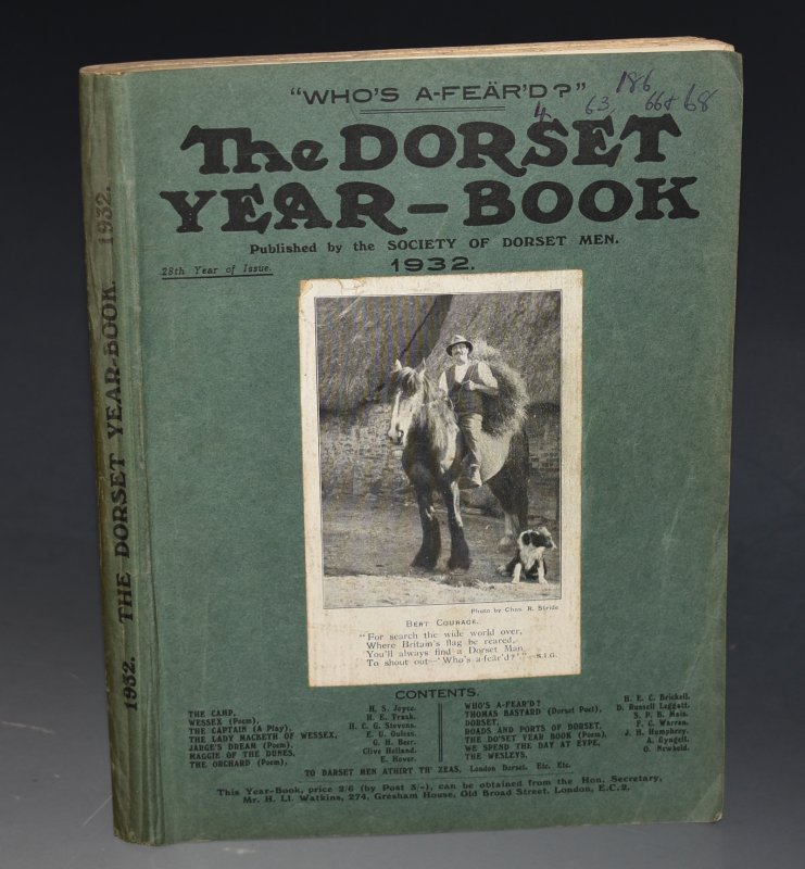 "Image for The Dorset Year Book for 1932. With ""The Literature of Dorset"", by H. F. Johnstone (extensive bibliography of Dorset related books - 18 pp.)."