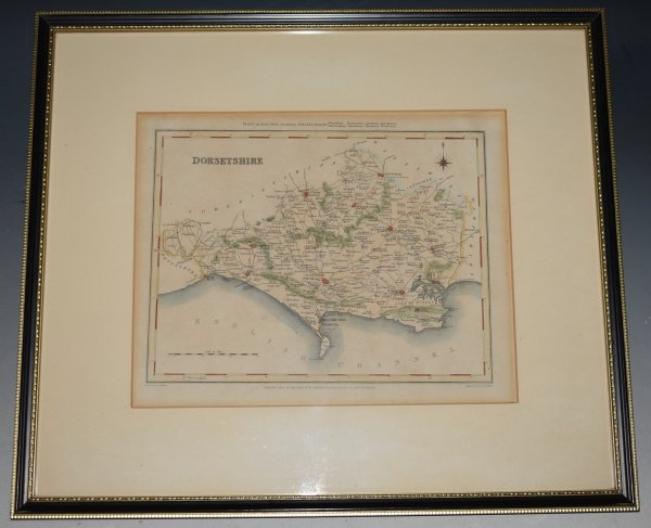 "Image for ORIGINAL ENGRAVED  MAP OF Dorsetshire. Engraved for LEWIS's  ""Topographical Dictionary"" and drawn by R. Creighton. From: ""AN ATLAS comprising Maps of the Several Counties, divided into Unions….""."