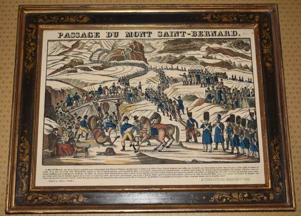 Image for Original Coloured Lithograph LE PASSAGE DU MONT SAINT-BERNARD or THE PASSAGE OF MONT SAINT-BERNARD