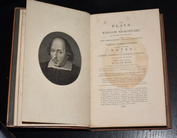 Image for The Plays of William Shakespeare In Tenty-One Volumes. With the Corrections and Illustrations of Various Commentators. To Which are Added Notes, by Samuel Johnson and George Steevens. The Fifth Edition. Revised and Augmented by Isaac Reed, with a Glossarial Index.