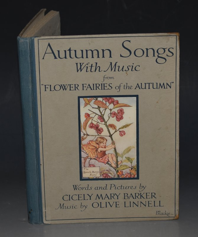 "Image for Autumn Songs With Music from ""Flower Fairies of the Autumn"" Words & Pictures by C. M. Barker. Music by Olive Linnell."