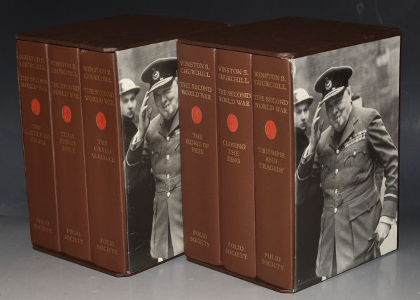 Image for The Second World War. The Gathering Storm / Their Finest Hour / The Grand Alliance / The Hinge of Fate / Closing the Ring / Triumph and Tragedy. Six volumes presented in 2 slipcases (3 vols per slip-case).