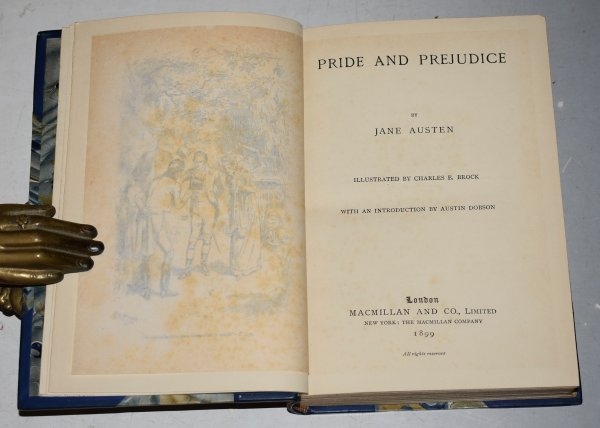 Image for Jane Austen's Works in Five Volumes. Pride & Prejudice / Northanger Abbey & Persuasion / Emma / Sense & Sensibility / Mansfield Park. Illustrated by Hugh Thomson and Charles E. Brock. With Introductions by Austin Dobson.