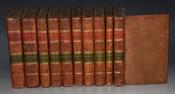 Image for The Works of William Robertson in Ten Volumes History of Scotland (2 volumes), History of Charles V (3 vols), America (4 vols), and India.