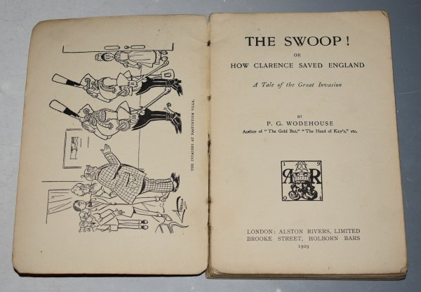"Image for The ""Swoop!"" or, How Clarence Saved England A Tale of the Great Invasion. Illustrated by C. Harrison. Rare 1st Edition Paperback in Slipcase."