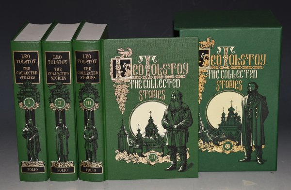 Image for The Collected Stories. Three Volumes in Slipcase. Translated by A & L. Maude, Illustrated by Roman Pisarev.