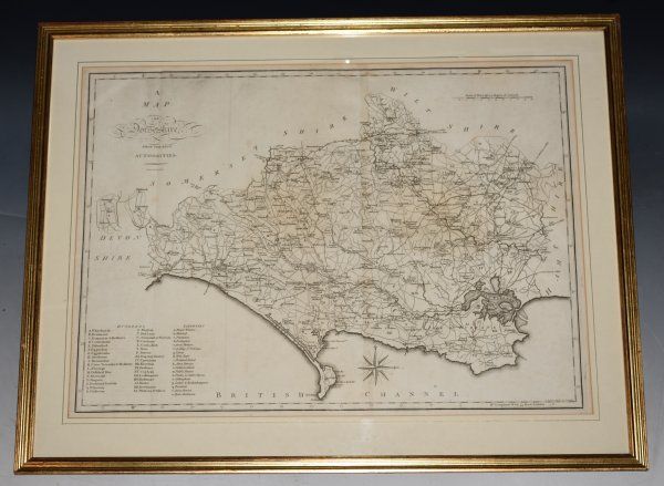 "Image for Original Engraved Hand Coloured Map of ""Dorsetshire, From the Best Authorities"""