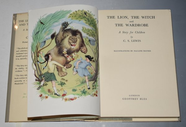 Image for The Lion, The Witch and The Wardrobe. A Story For Children. Illustrations Pauline Baynes. 1950 First Edition with 5th Imp. Dustwrapper.