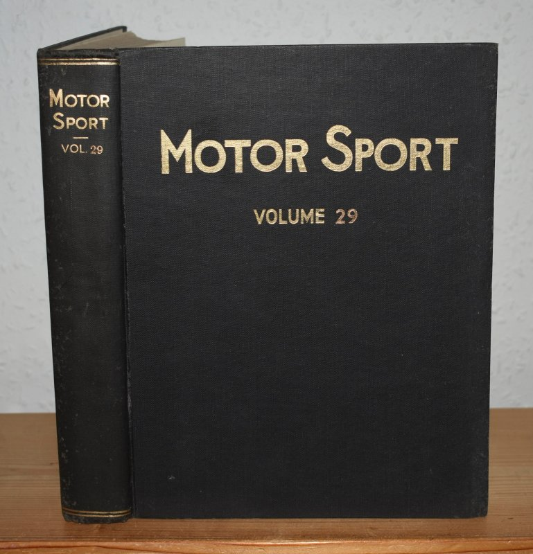 Image for MOTOR SPORT. Incorporating  SPEED and  The Brooklands Gazette. Jan 1953 to Dec. 1953. Complete Year Bound together with stunning colour illustrated front covers. 12 Issues. Volume 29.