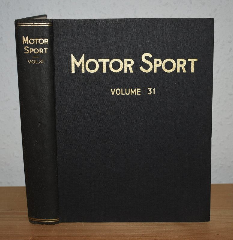 Image for MOTOR SPORT. Incorporating  SPEED and  The Brooklands Gazette. Jan 1955 to Dec. 1955. Complete Year Bound together with stunning colour illustrated front covers. 12 Issues. Volume 31.