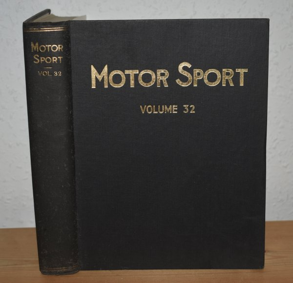 Image for MOTOR SPORT. Incorporating  SPEED and  The Brooklands Gazette. Jan 1956 to Dec. 1956. Complete Year Bound together with stunning colour illustrated front covers. 12 Issues. Volume 32.