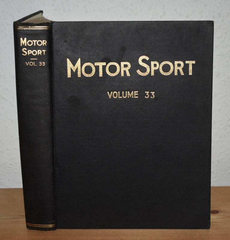 Image for MOTOR SPORT. Incorporating  SPEED and  The Brooklands Gazette. Jan 1957 to Dec. 1957. Complete Year Bound together with stunning colour illustrated front covers. 12 Issues. Volume 33.