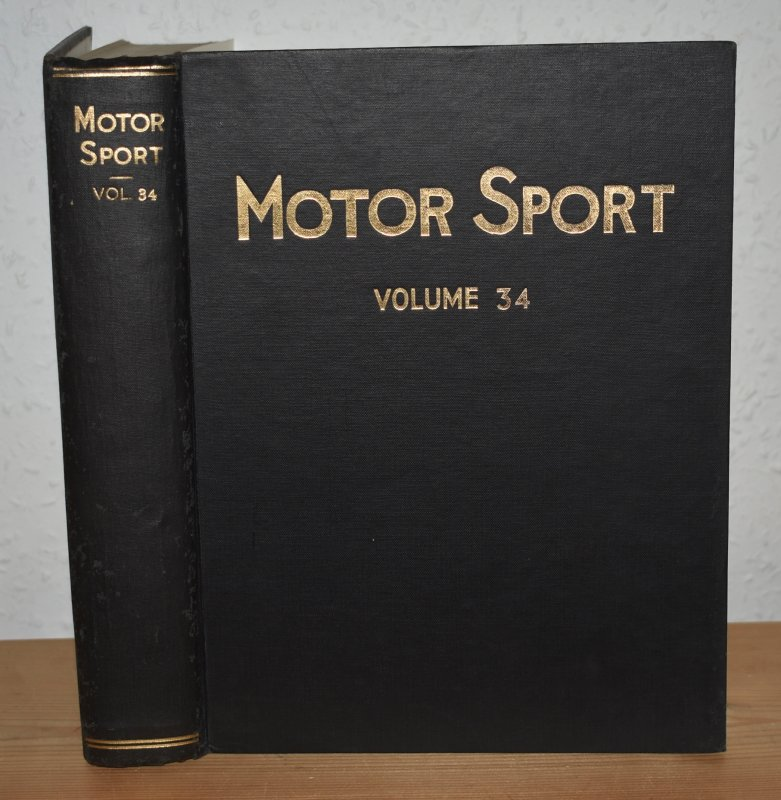 Image for MOTOR SPORT. Incorporating  SPEED and  The Brooklands Gazette. Jan 1958 to Dec. 1958. Complete Year Bound together with stunning colour illustrated front covers. 12 Issues. Volume 34.