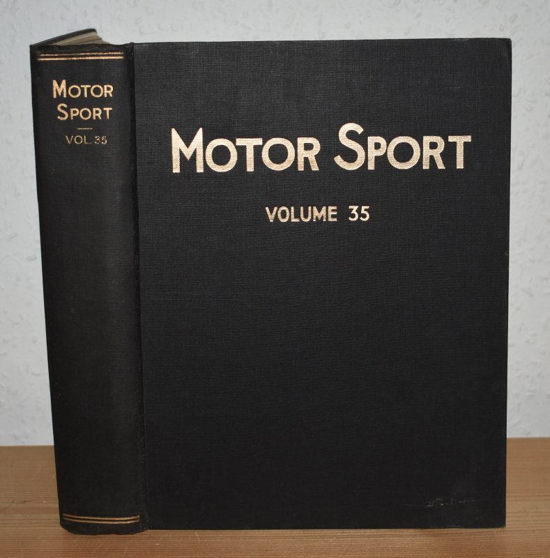 Image for MOTOR SPORT. Incorporating  SPEED and  The Brooklands Gazette. Jan 1959 to Dec. 1959. Complete Year Bound together with stunning colour illustrated front covers. 12 Issues. Volume 35.