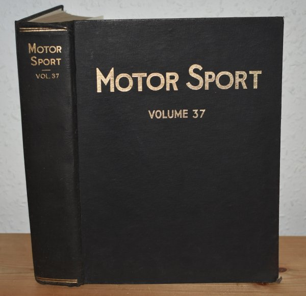 Image for MOTOR SPORT. Incorporating  SPEED and  The Brooklands Gazette. Jan 1961 to Dec. 1961. Complete Year Bound together with stunning colour illustrated front covers. 12 Issues. Volume 37.