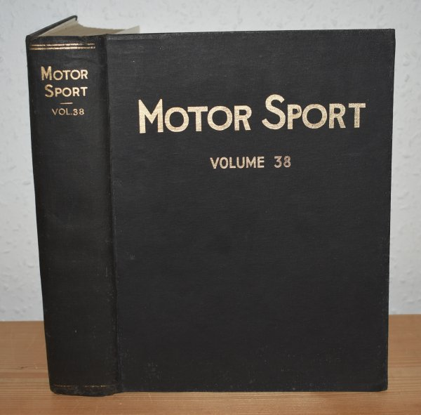 Image for MOTOR SPORT. Incorporating  SPEED and  The Brooklands Gazette. Jan 1962 to Dec. 1962. Complete Year Bound together with stunning colour illustrated front covers. 12 Issues. Volume 38.