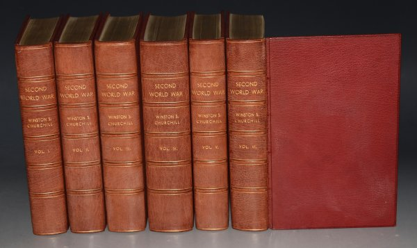 Image for The Second World War. Finely bound Leather Set Complete in Six Volumes: The Gathering Storm, Their Finest Hour, The Grand Alliance, The Hinge of Fate, Closing The Ring, Triumph and Tragedy.