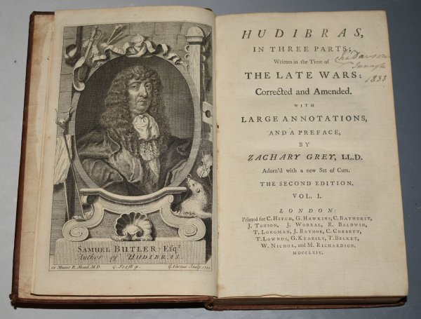 Image for Hudibras, In Three Parts; Written in the Time of The Late Wars: Corrected and Amended. With Large Annotations, And a Preface by Zachary Grey. Adorn'd with a new Set of Cuts. The Second Edition.