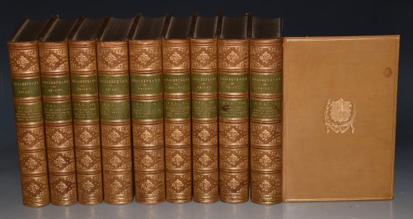"Image for The Works of William Shakespeare. In Nine Volumes. ""The Cambridge Shakespeare."" Edited by William Aldis Wright."
