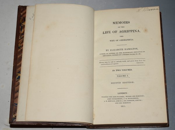 Image for Memoirs Of The Life Of Agrippina, With The Wife Of Germanicus. In Two Volumes. Second Edition.