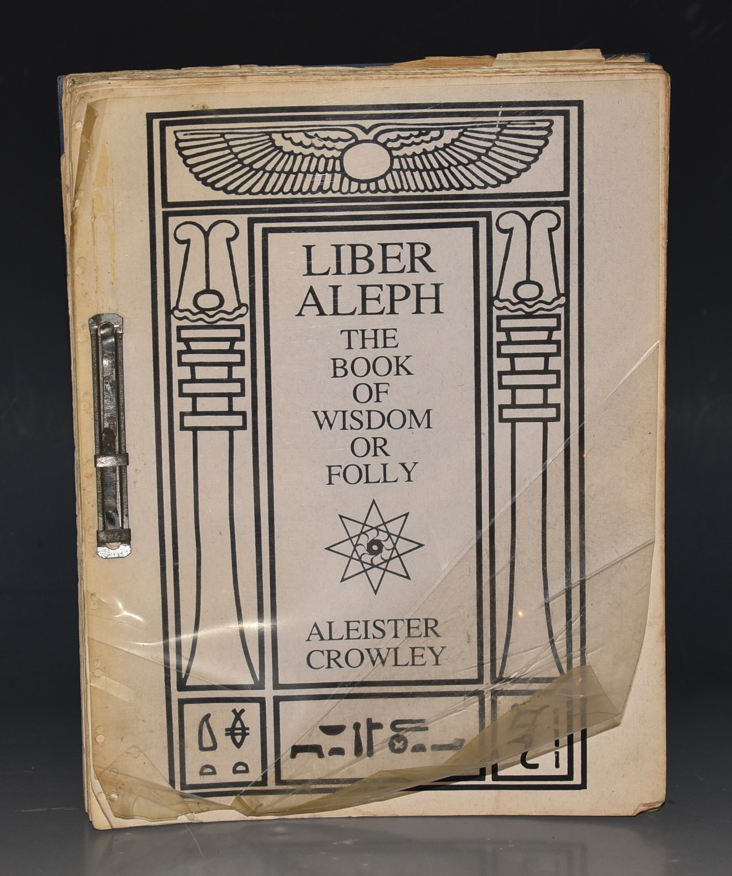 Image for Liber Aleph, The Book of Wisdom or Folly In the Form of an Epistle. By The Master Therion (Aleister Crowley).