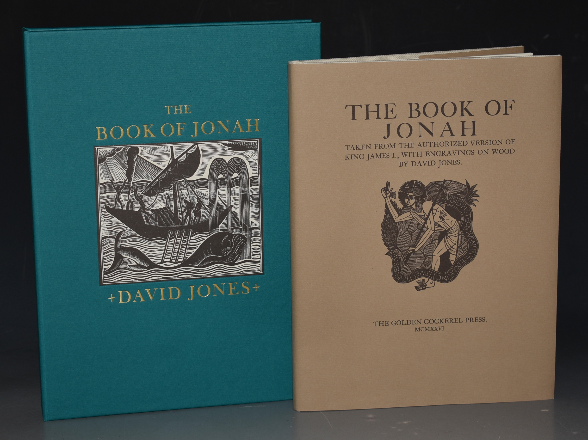 Image for The Book of Jonah Taken from the Authorized version of King James I., With Engravings on wood by David Jones. Limited Numbered Cased Edition. Facsimile of the 1926 Golden Cockerel Press Edition. With an Essay by Sebastian Carter.