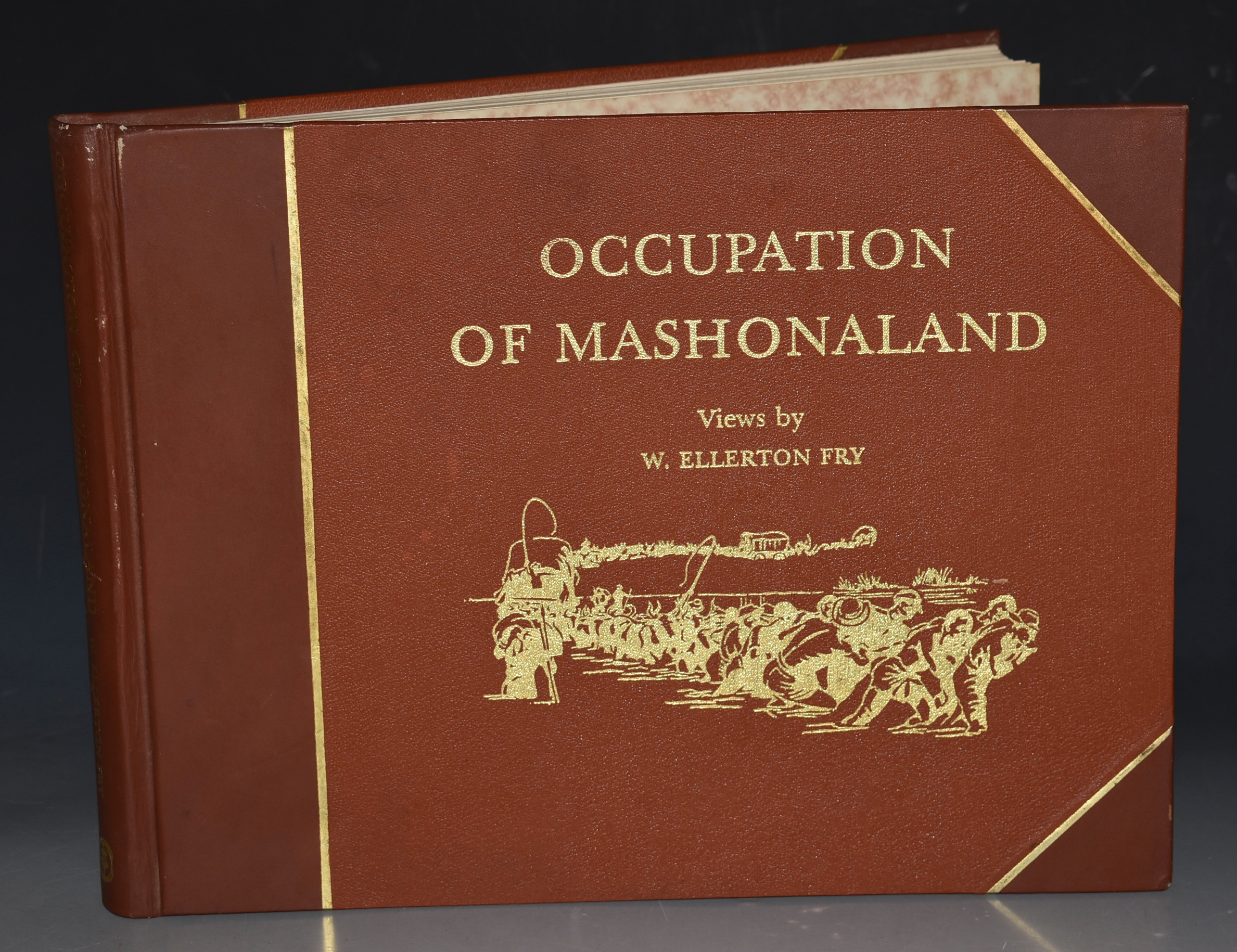 Image for OCCUPATION OF MASHONALAND. [Reprint in a smaller format, of the album of photographs taken on the Pioneer Column of 1890, and originally published in October 1891; with the addition of maps; and new text, captions and a Bibliography prepared by Peter McLaughlin].