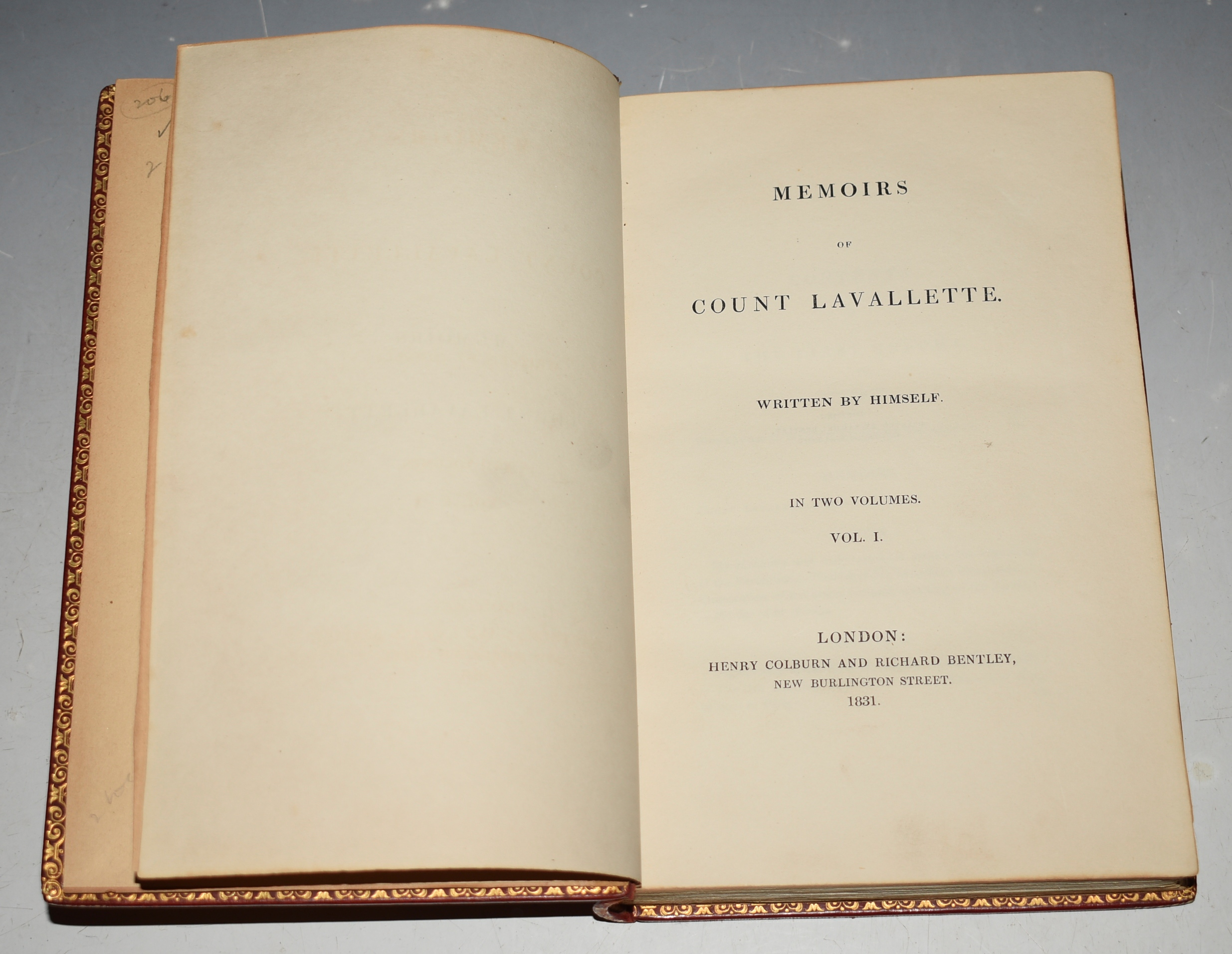 Image for Memoirs Of Count Lavallette. Written by Himself. In Two Volumes. In French Language.