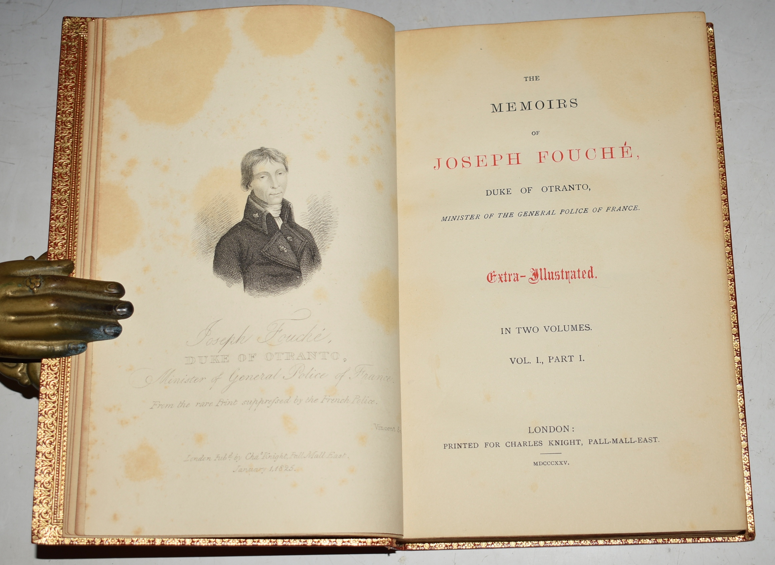 "Image for The Memoirs of Joseph Fouche, Duke of Otranto Minister of the General Police of France. With a Portrait. Translated from the French. In Four Volumes. ""EXTRA-ILLUSTRATED"" Edition."