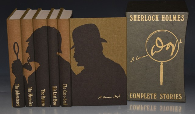 Image for Sherlock Holmes, Complete Stories. The Adventures, The Memoirs, The Return, His Last Bow, The Case-book. Introduction by Peter Cushing. Illustrated by Francis Mosley.