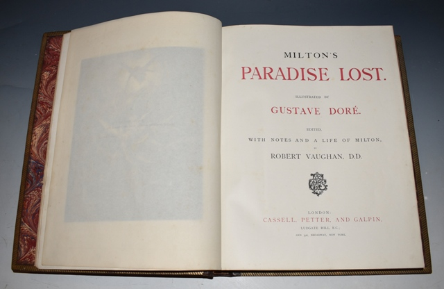 Image for Milton's Paradise Lost. Illustrated by Gustave Dore. Edited with Notes and A Life of Milton, by Robert Vaughan.