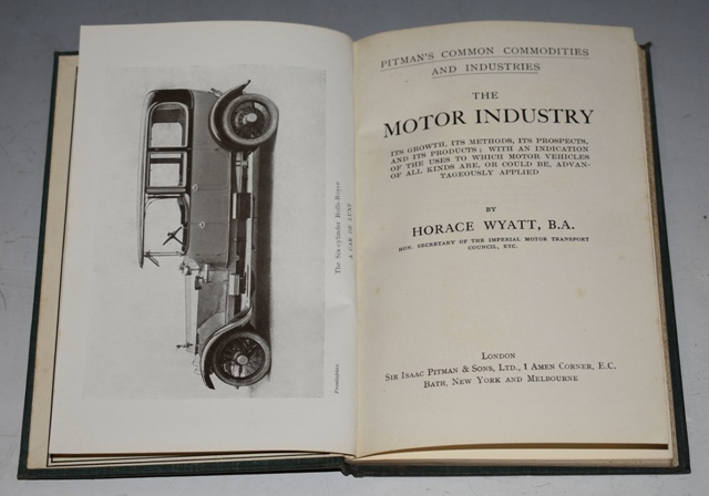 "Image for The Motor Industry ""Pitman's Common Commodities and Industries.""  Its Growth, Its Methods, Its Prospects &c &c..."