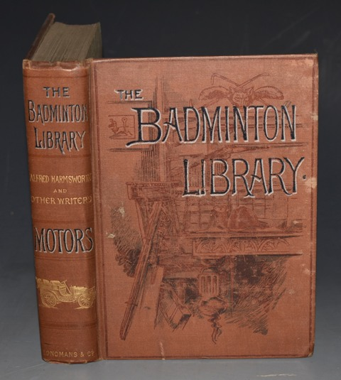 Image for MOTORS AND MOTOR-DRIVING. The Badminton Library. With contributions by the Marquis de Chasseloup-Laubat... &c &c... With Illustrations by H. M. Brock, H. Tringham, and from Photographs. Second Edition.