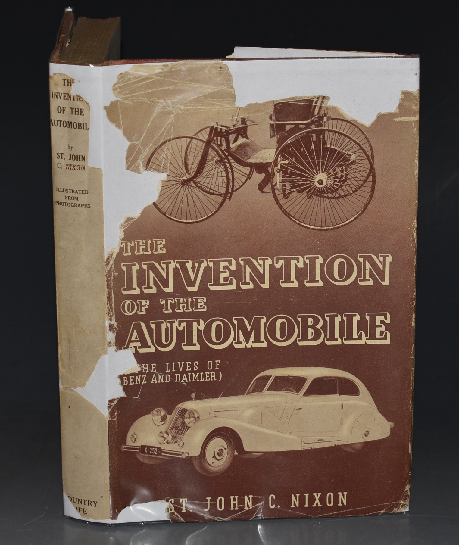 Image for The Invention of the Automobile (Karl Benz and Gottlieb Daimler.) Preface by Rudolph Caracciola. Illustrated from Photographs. SIGNED BY AUTHOR.