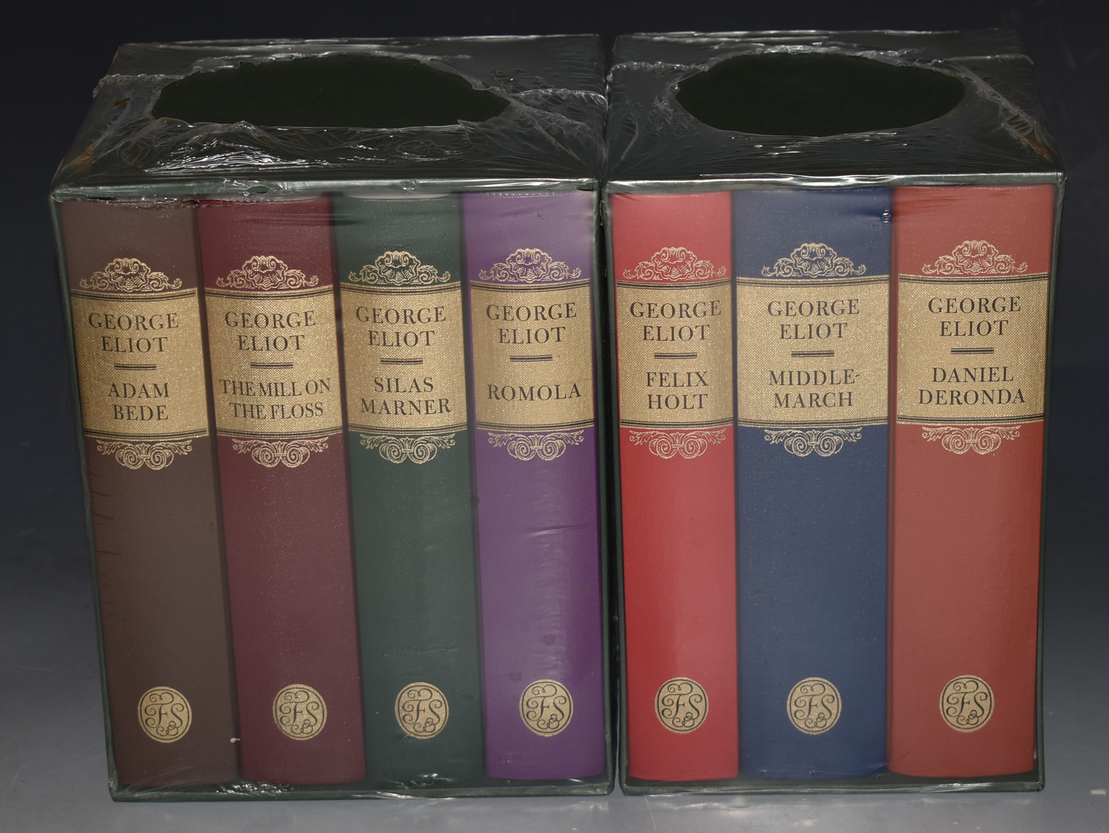 Image for Complete Novels. Seven Volumes in Slipcases. Mill on the Floss; Adam Bede; Silas Mariner; Romola; & Fenix Holt; Middle March; Daniel Deronda.