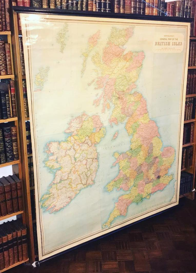 Image for BARTHOLOMEWS GENERAL MAP OF THE BRITISH ISLES Tenth inch to mile. Scale I:633600