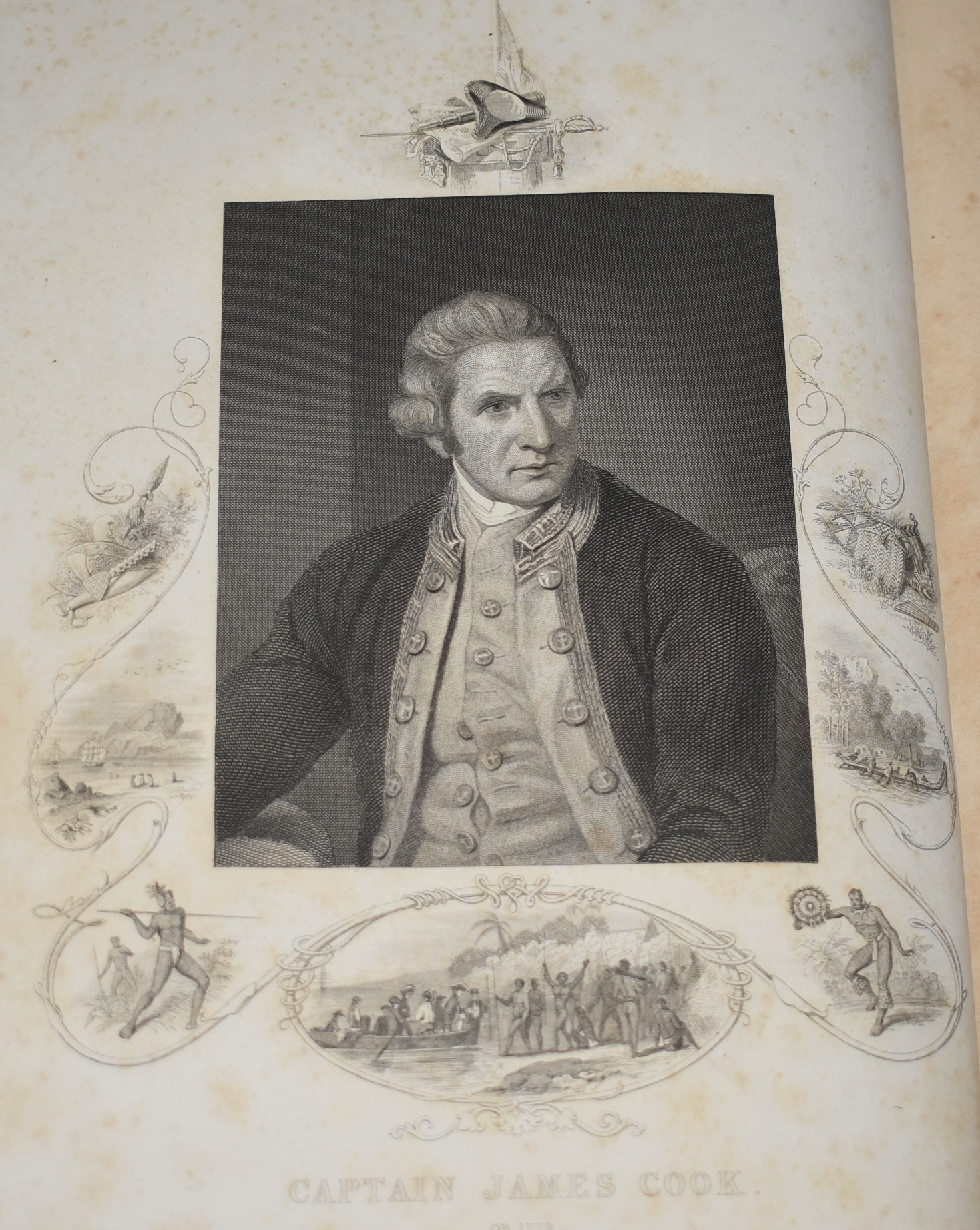 Image for The Voyages of Captain James Cook Round The World Illustrated with Maps and Numerous Engravings on Wood and Steel. In Two Volumes.