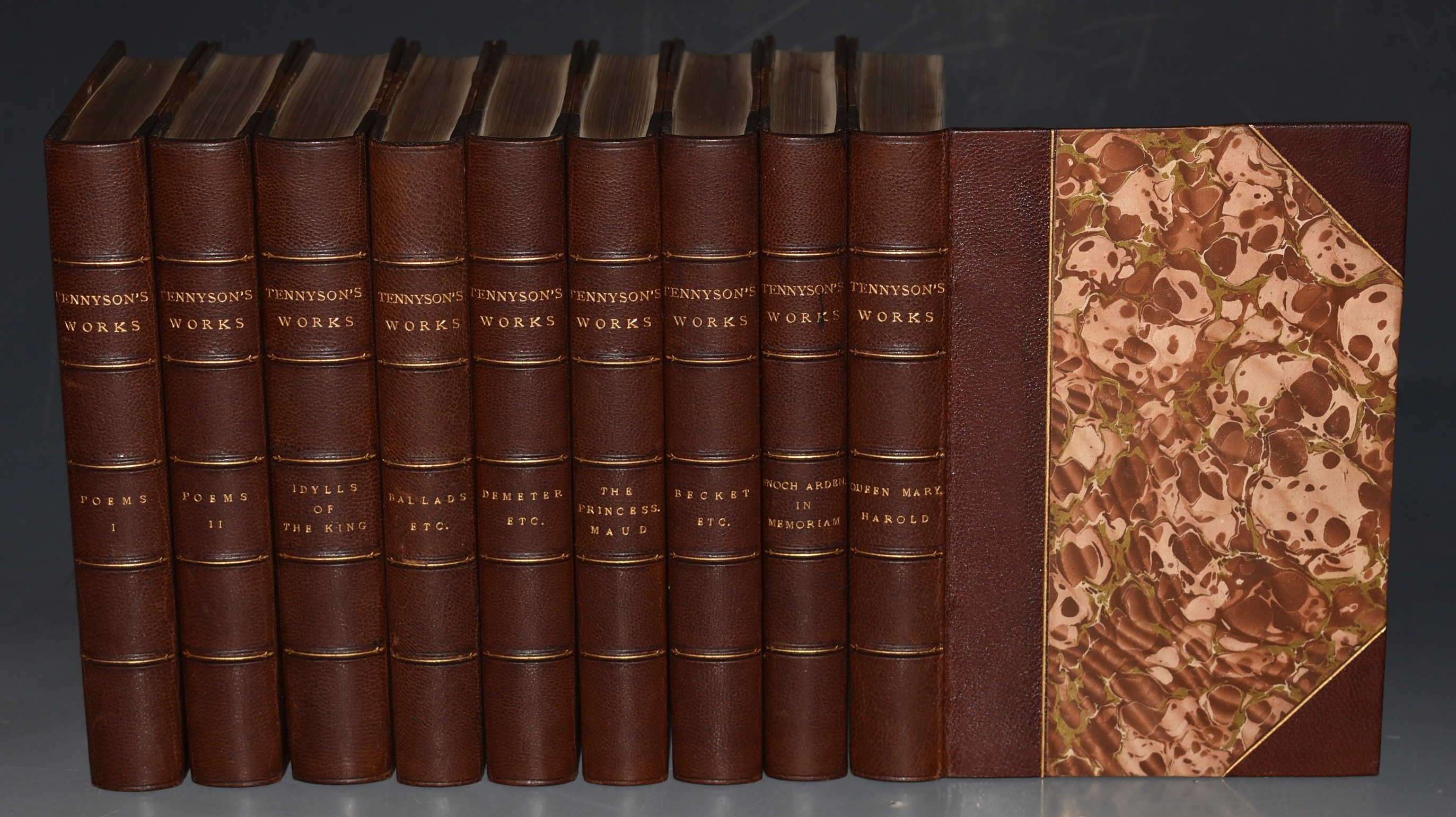 Image for The Works of Alfred Lord Tennyson. In Nine Volumes.