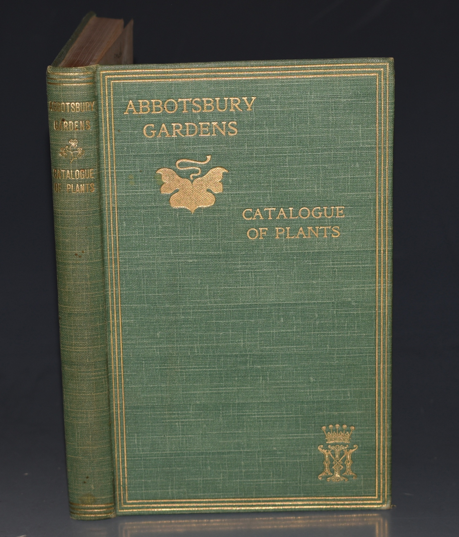 Image for Catalogue of Plants in Abbotsbury Gardens, 1899. (Dorset).