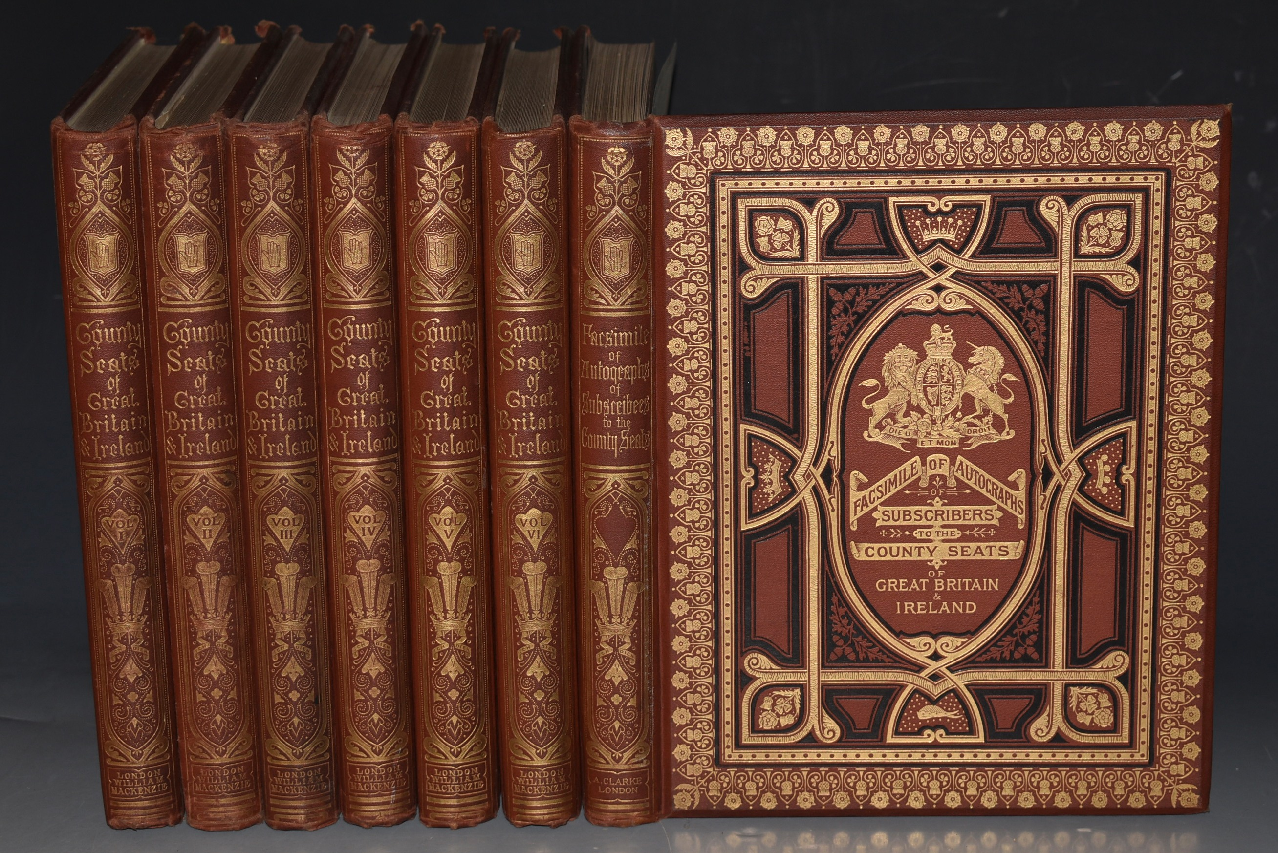 "Image for A Series of Picturesque Views of Seats of the Noblemen and Gentlemen of Great Britain and Ireland. With descriptive and historical letterpress. Six Volumes. PLUS volume; ""Facsimile of Autographs of Subscribers."" In Seven Volumes."
