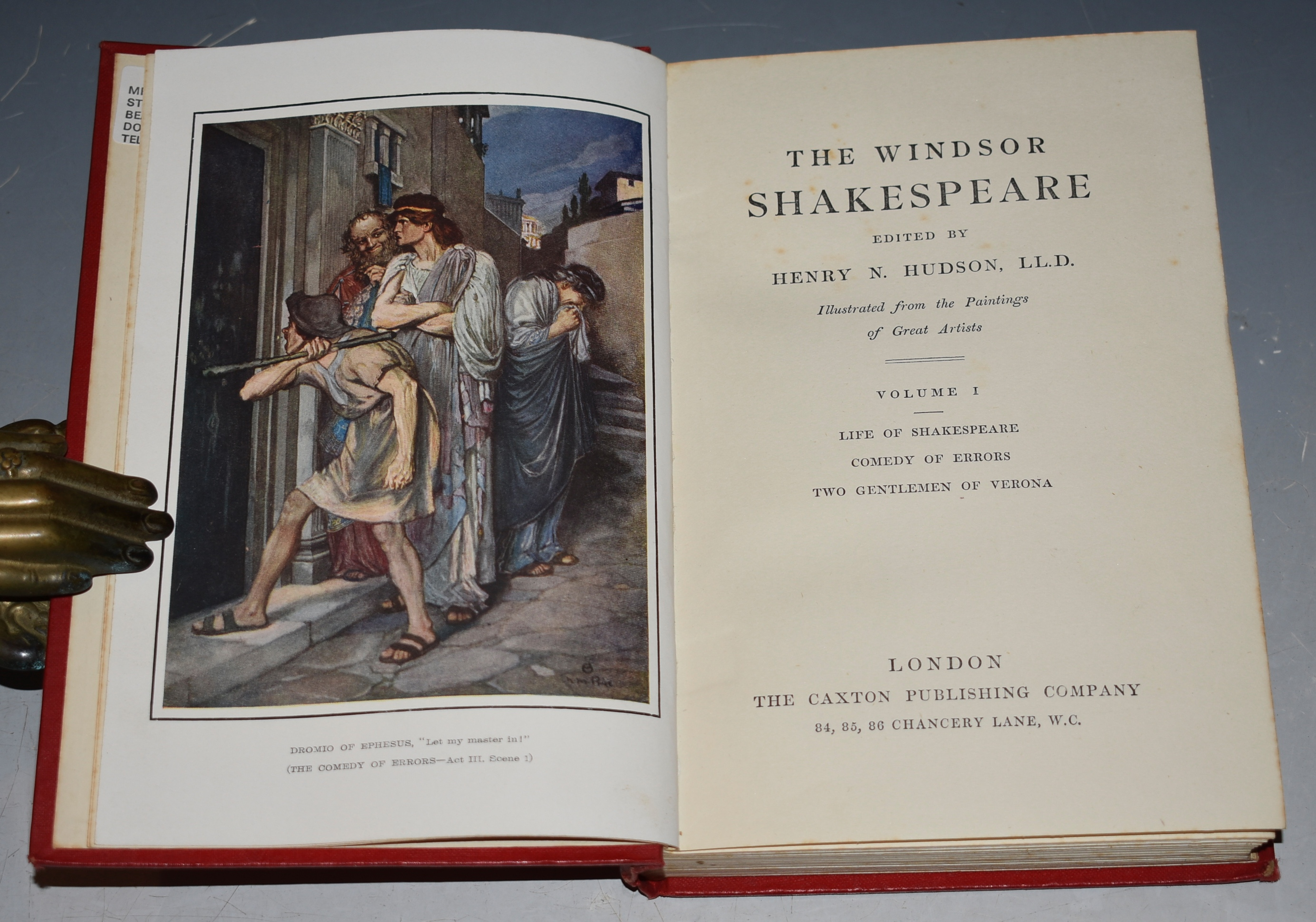 Image for THE WINDSOR SHAKESPEARE. A charming edition of Shakespeare.