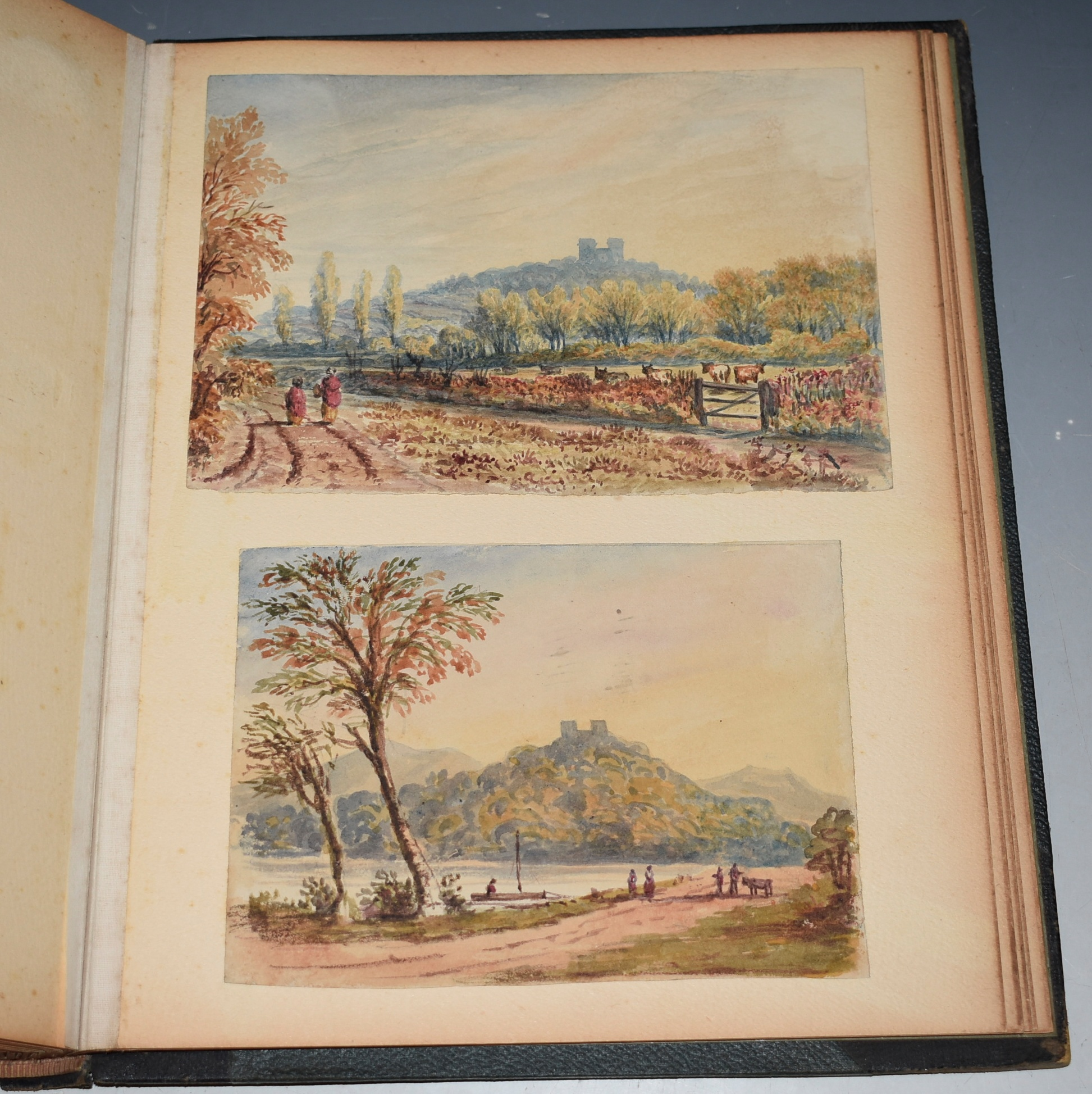 Image for Album of Original Artworks Mid-Victorian Album Collection of Original Pencil and Watercolour Drawings and Paintings.
