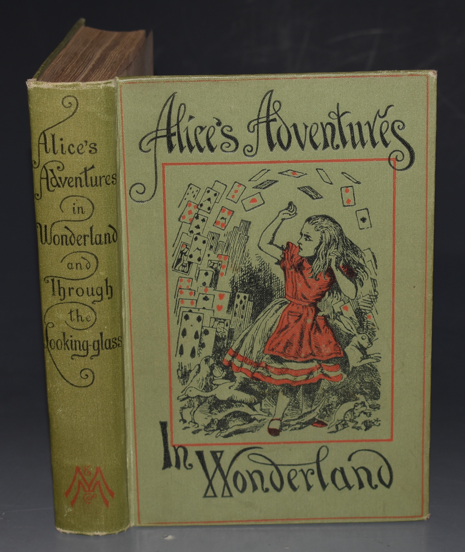 "Image for Alice's Adventures in Wonderland. AND: Through The Looking-Glass, And What Alice Found There. Illustrated by John Tenniel. Two Volumes Bound in One. ""People's Edition."""