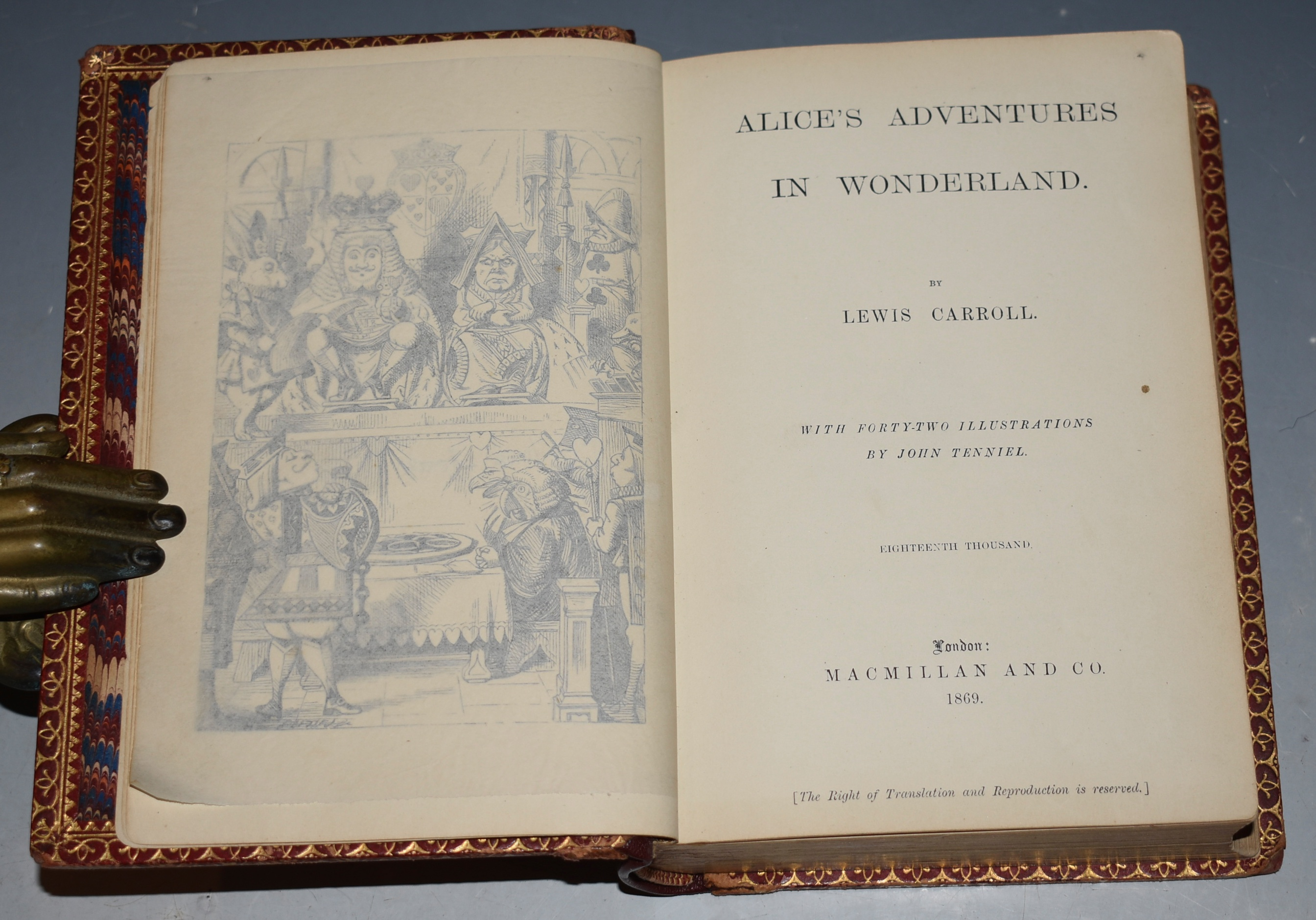 Image for Alice's Adventures In Wonderland, AND, Through The Looking Glass. Two Volumes Bound in One. With Illustrations by John Tenniel.