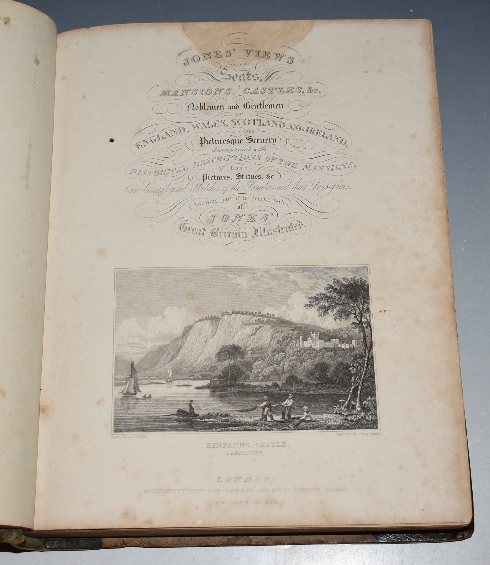 Image for Jones' Views of the Seats, Mansions, Castles, &c. of Noblemen and Gentlemen in England, Wales, Scotland and Ireland; And Other Picturesque Scenery, Accompanied with historical descriptions of the Mansions, list of the pictures, statues &c. and Genealogical Sketches of the Families and their Possessors; Forming part of the general series of Jones' Great Britain Illustrated.