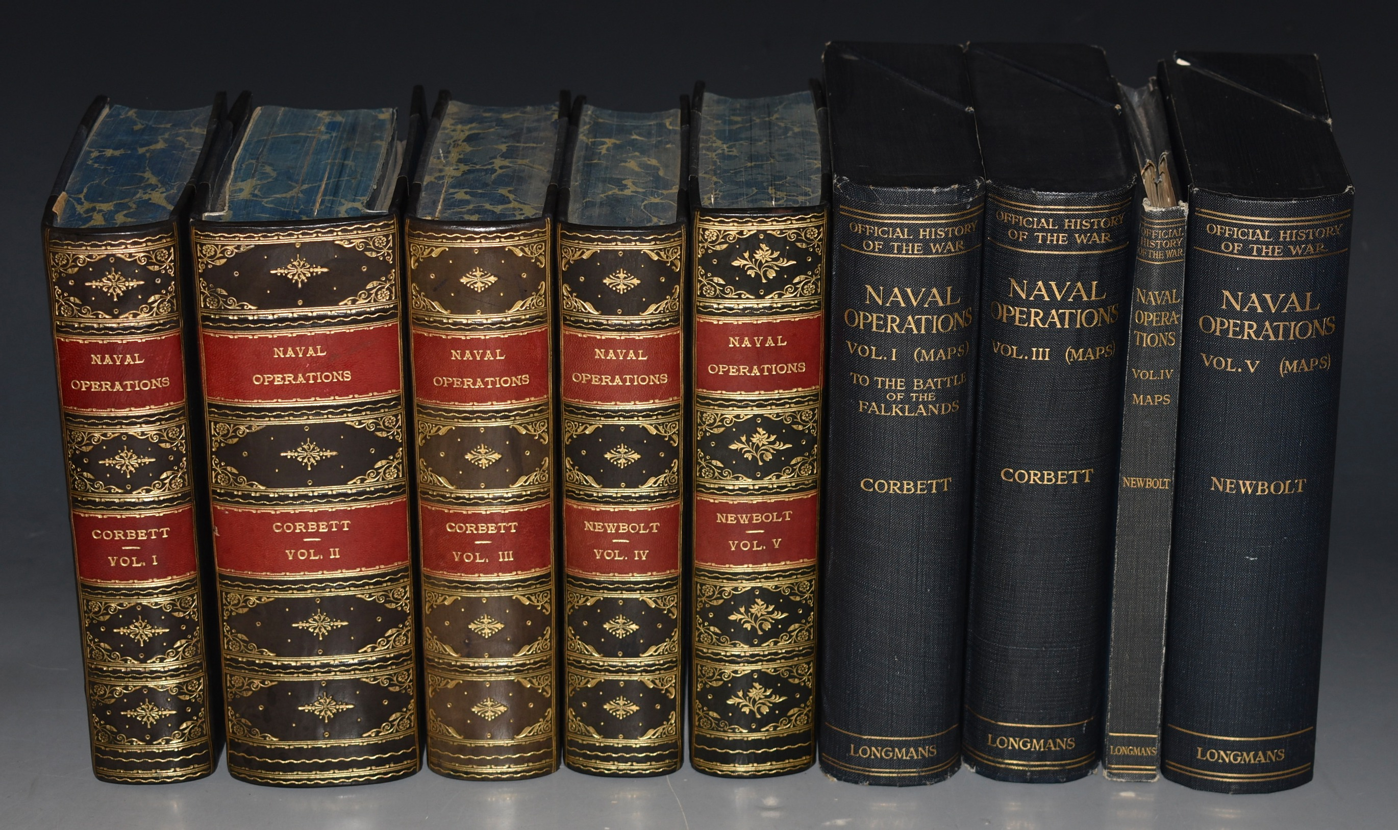 Image for Naval Operations. History of the Great War. Based on Official Documents. By Direction of the Historical Section of the Committee of Imperial Defence. Five Volumes, Plus Map Volumes (Nine Volumes Total.)
