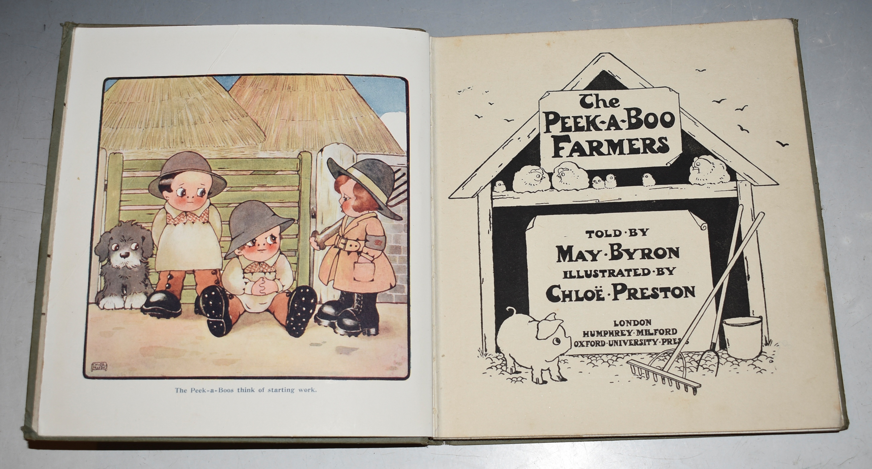 Image for The Peek-A-Boo Farmers Told by May Byron. Illustrated by Chloe Preston.