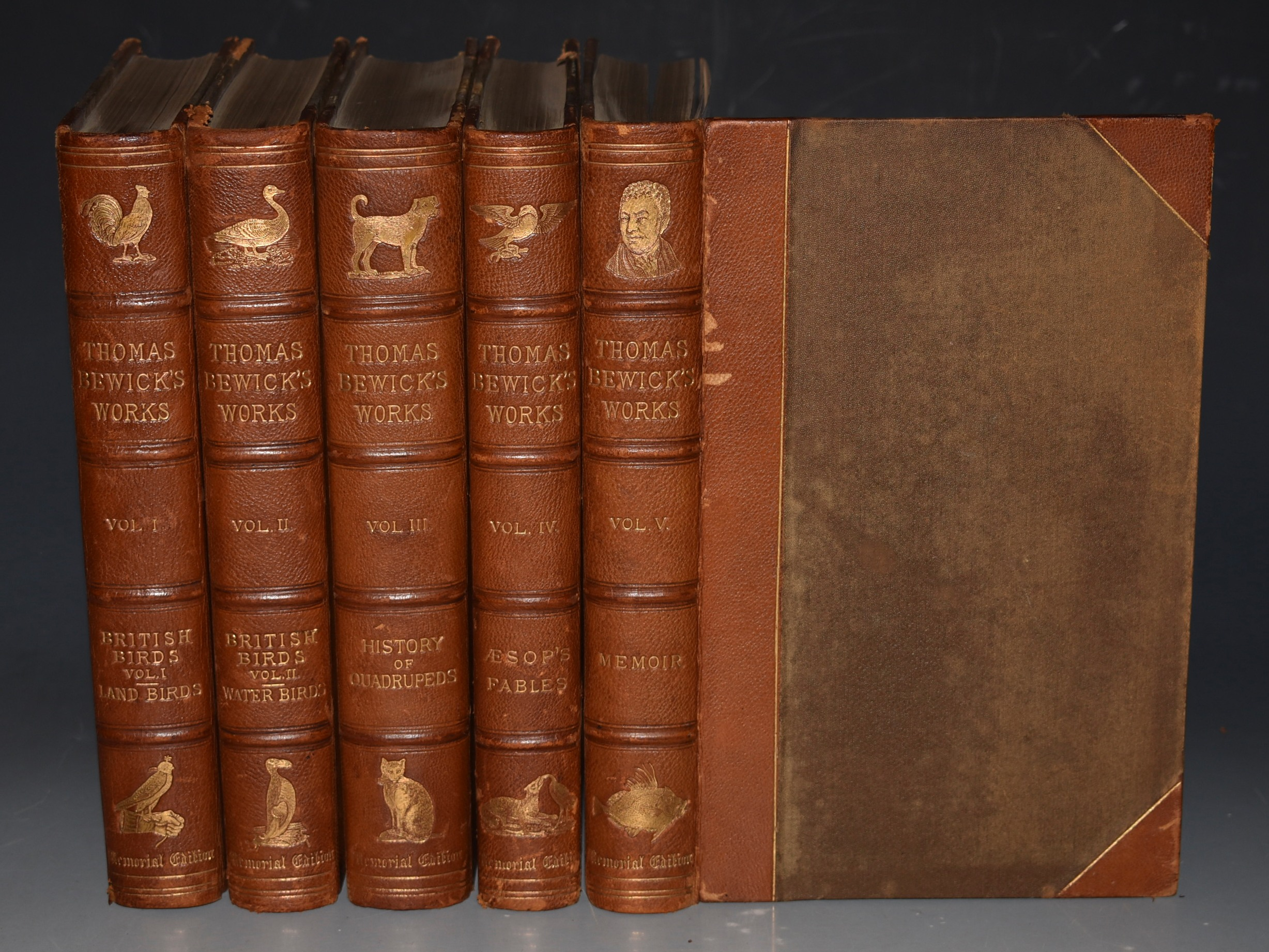 Image for Memorial Edition of Thomas Bewick's Works. Complete In Five Volumes. Signed Limited Edition.