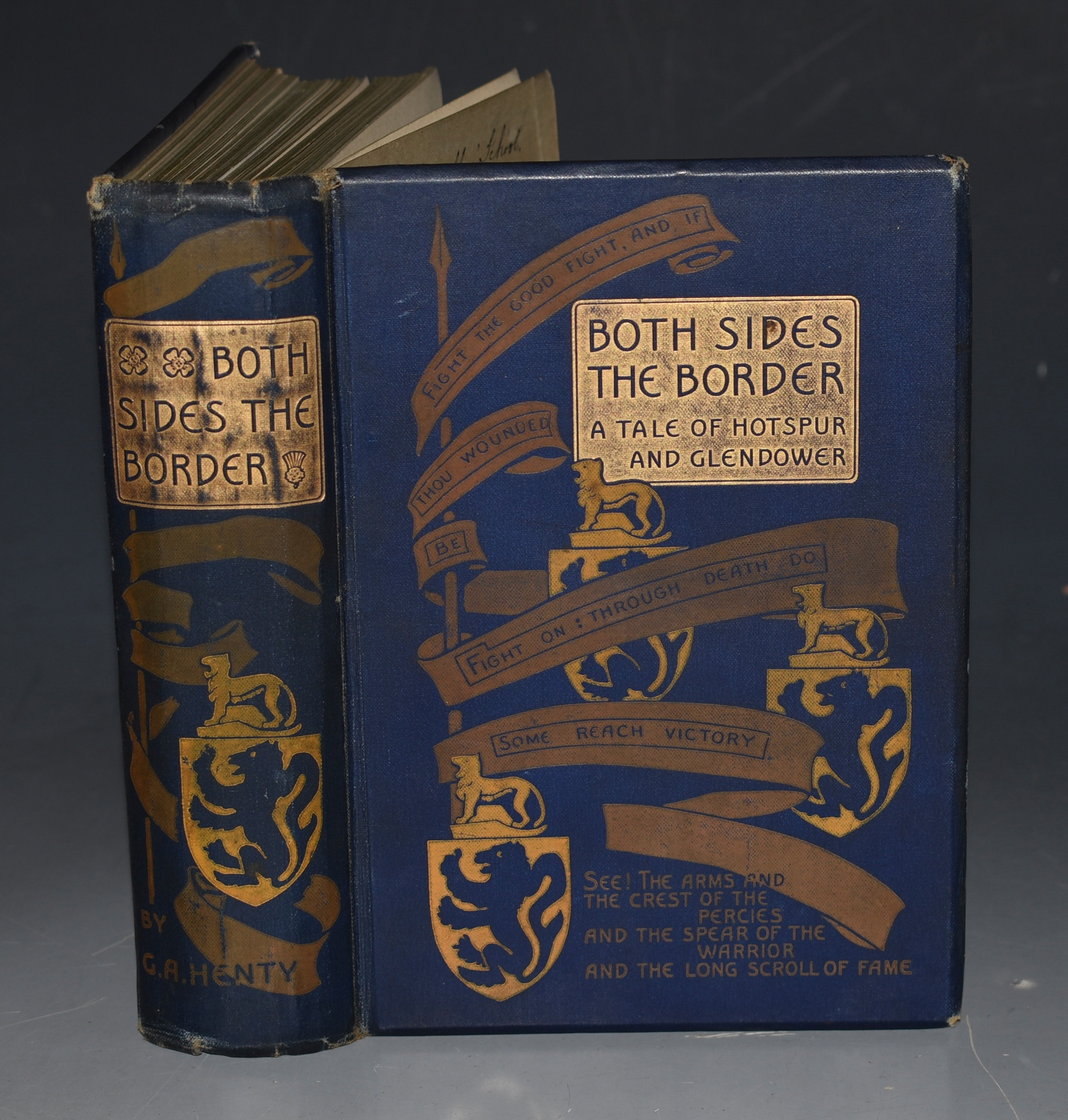 Image for Both Sides of the Border. A Tale of Hotspur and Glendower. With twelve illustrations by Ralph Peacock.